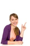 Young woman pointing Royalty Free Stock Photography