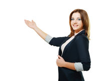 Young woman pointing Royalty Free Stock Photos