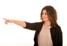 Young woman pointing Royalty Free Stock Images