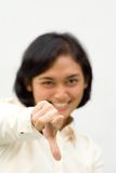Young woman pointing at you stock photos