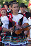Young woman from Poland in traditional costume 3 Royalty Free Stock Photo