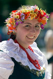 Young woman from Poland in traditional costume 4 Stock Images