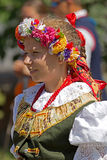 Young woman from Poland in traditional costume Royalty Free Stock Images