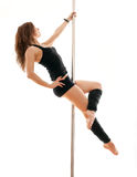 The young woman on a pole Royalty Free Stock Photos