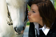 Young woman and pony. Stock Photography