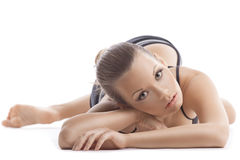 Young woman portait relax after fitness program Royalty Free Stock Images