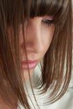 Young woman portrait. Studio shot stock photos