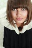 Young woman portrait. Studio shot stock image