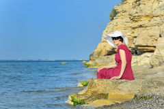 Young woman portrait on the beach Royalty Free Stock Image