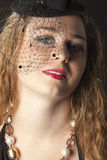 Young woman portrait in cabaret dress Stock Image
