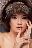 Young woman portrait. Closeup beauty studio shoot. Royalty Free Stock Photo