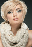 Young woman portrait. Closeup beauty studio shoot. Royalty Free Stock Photos