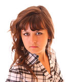 Young woman portrait isolated Stock Image