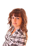 Young woman portrait isolated Royalty Free Stock Images