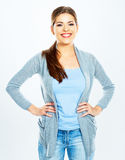 Young woman portrait Isolated Royalty Free Stock Photography