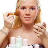 Young woman portrait, make-up concept. stock images