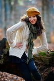Young woman portrait outdoor in autumn Stock Photography