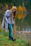 Young woman portrait outdoor in autumn Royalty Free Stock Photography