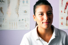 Young woman portrait physiotherapist Royalty Free Stock Photography