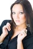 Young woman portrait, studio shoot Royalty Free Stock Photos