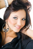 Young woman portrait, studio shoot Stock Images