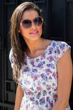 Young woman portrait with sunglasses Royalty Free Stock Photo