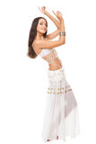 Young woman posing arabic belly dance Stock Images