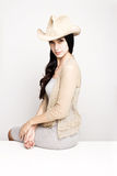 Young woman posing in cowboy hat Royalty Free Stock Photo