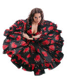 Young woman posing in flamenco costume isolated Stock Photo
