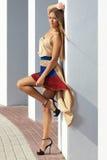 Young  woman posing glamorously; fashion model Stock Photography