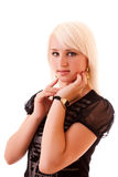 Young woman posing isolated Royalty Free Stock Photo