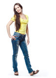 Young woman is posing Royalty Free Stock Photo