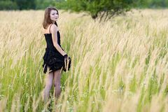Young woman posing outdoor. Royalty Free Stock Photos