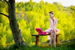 Young woman posing outdoors Royalty Free Stock Images