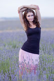Young woman posing outdoors Royalty Free Stock Photo