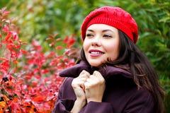 Young woman posing outdoors Stock Photos