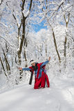 Young woman posing in snowy landscape Stock Image