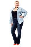 Young woman posing stylishly Stock Photos