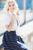 Young woman posing in summer outdoors Royalty Free Stock Photography