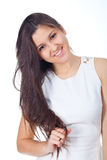 Young woman in positive expressions Royalty Free Stock Images