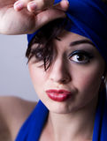 Young woman pouting Royalty Free Stock Images