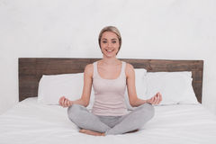 Young Woman Practice Yoga Concept Stock Photography