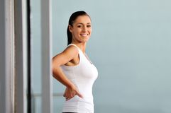 Young woman practicing fitness and working out Royalty Free Stock Images