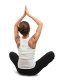 Young woman practicing yoga Stock Images