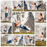 Young woman is practicing yoga Royalty Free Stock Photo