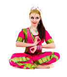 Young woman practicing yoga in the lotus position Royalty Free Stock Photography