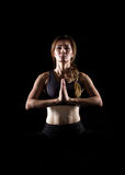 Young woman practicing yoga. Stock Image