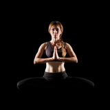 Young woman practicing yoga. Stock Photography