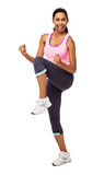 Young Woman Practicing Zumba Dance Royalty Free Stock Photo