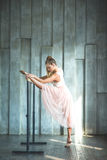Young woman practising ballet Royalty Free Stock Images